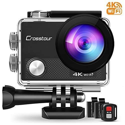 Crosstour CT9000 Action Cam Unterwasserkamera (4K 16MP WiFi Unterwasser 40M...