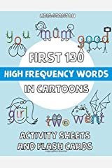First 130 High Frequency Words in Cartoons: Activity Sheets and Flash Cards Paperback