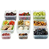 Komax Biokips Food Storage Containers Set Airtight (9) Including 2 Lunch Boxes