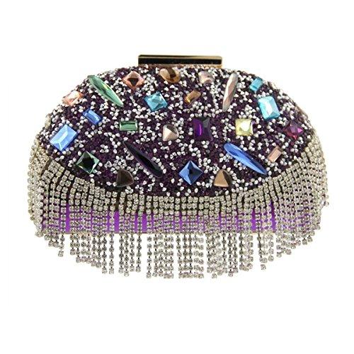 Diamante Di Purple Banchetto Cristallo Sera Delle Di Lusso Pacchetto Borsa Donne d7pYwBqp