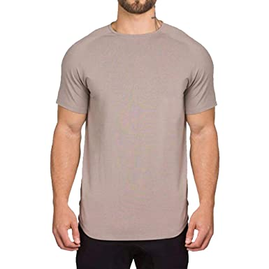 JiXuan T-Shirt de Musculation pour Hommes Fitness Gym Athletic Fitness Tee- Shirt à Manches Courtes Gym Wear T-Shirt d entraînement Classique  Amazon.fr   ... 4bbd44dc212