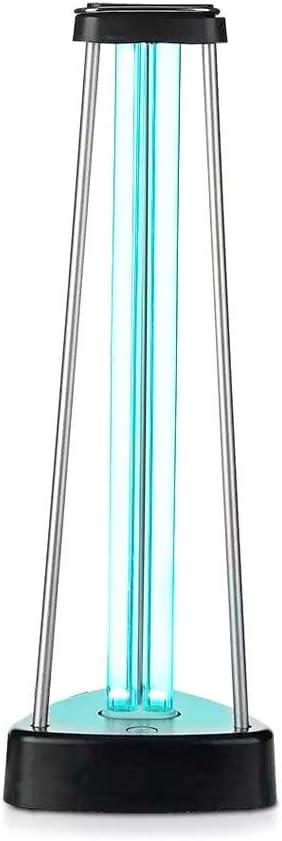 Lámpara germicida LedLux UV de 38 W con gas ozono para esterilización, desinfección y saneación de locales de hasta 60 m², extermina el 99,9% de bacterias, virus, hongos y agentes patógenos