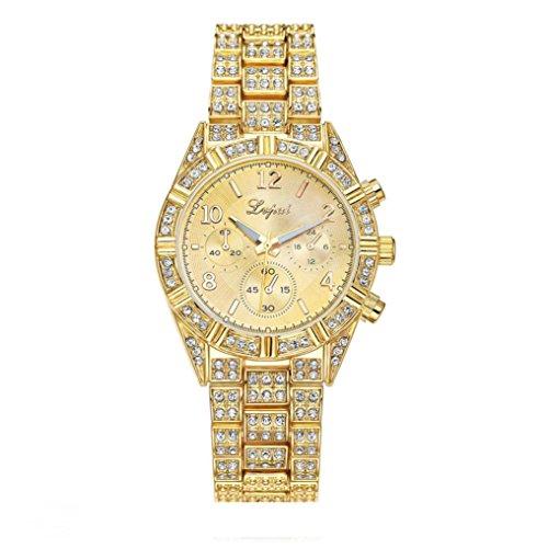 Hunputa® Luxury Vente chaude De Mode De Luxe Femmes Montres Femmes Bracelet Montre Watch (Gold)