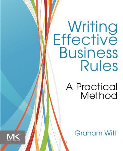 Writing Effective Business Rules by Graham Witt, Publisher : Morgan Kaufmann