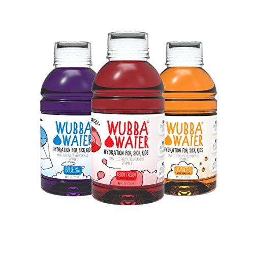 Wubba Water 6 Piece Sample, 2 Each Flavor