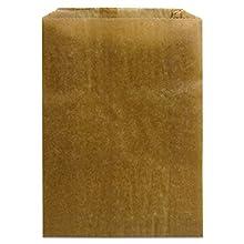 """Hospeco KL Waxed Kraft Feminine Hygiene Liner Bag with Gusset ,10.25"""" x 7.5"""" x 3.5"""",(Case of 500)"""