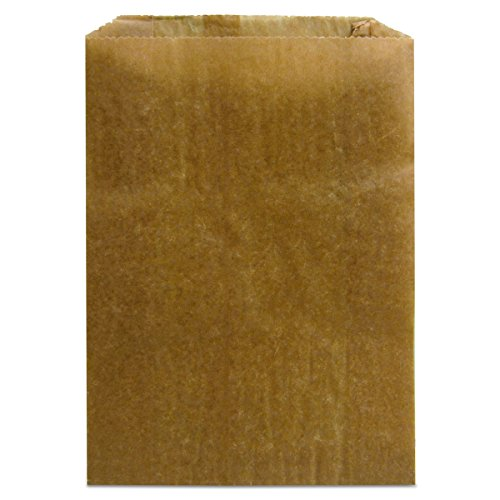"ft Feminine Hygiene Liner Bag with Gusset (Case of 500), 10.25"" x 7.5"" x 3.5"" (Kraft Waxed Paper Liners)"