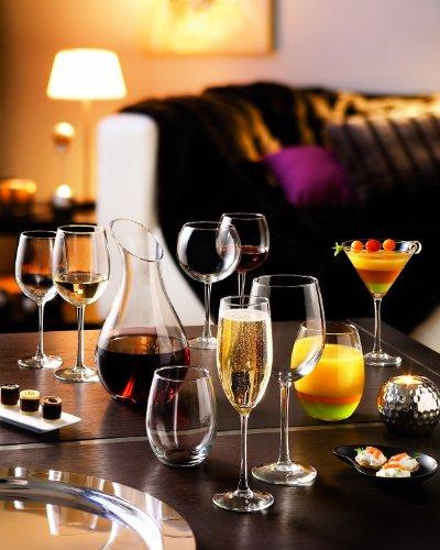 ARC International Luminarc Cachet Martini Glass, 10-Ounce, Set of 4 3 Four Martinis Soda Ash Glass Lead Free Glass