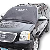 Automotive : Car Windshield Cover for Winter Snow Removal- Magnetic Snow, Ice and Frost Guard - New 6x magnets Fits SUV, Truck & Car Windshields - Auto Windshield Snow Cover - Large over 5x6ft - Outback Shades