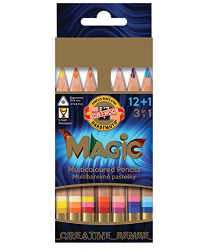 KOH-I-NOOR MAGIC Jumbo Triangular Coloured Pencil (Pack of 15)