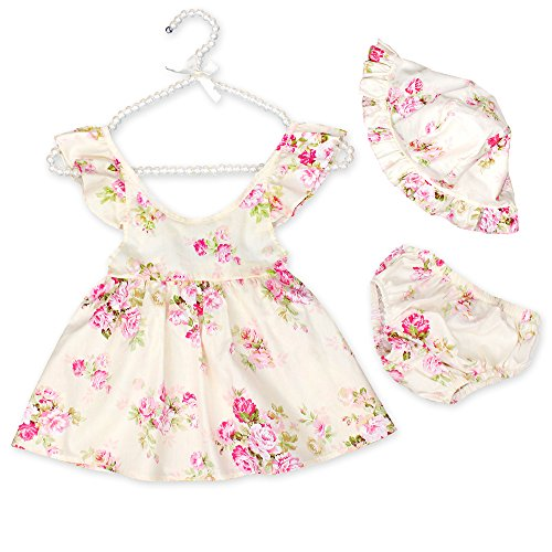 Luckikikids Baby Girl Clothes Set Summer Floral Outfits