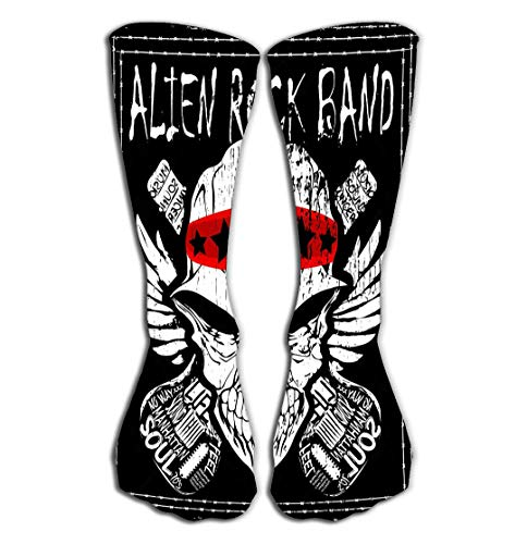 YILINGER Skull Rock n roll Band Music Man Design Cool Women's Men's Cool Colorful Casual Socks Casual Cotton Crew Socks Gift 19.7