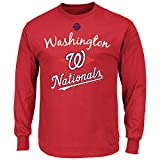 MLB Washington Nationals Screen Print Long Sleeve T-Shirt