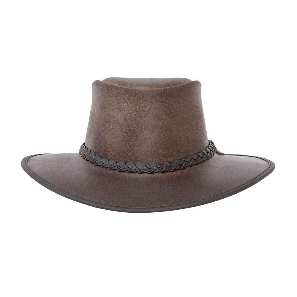 American Hat Makers Bravo-Braided Band by American Outback Rugged Leather Hat by American Hat Makers