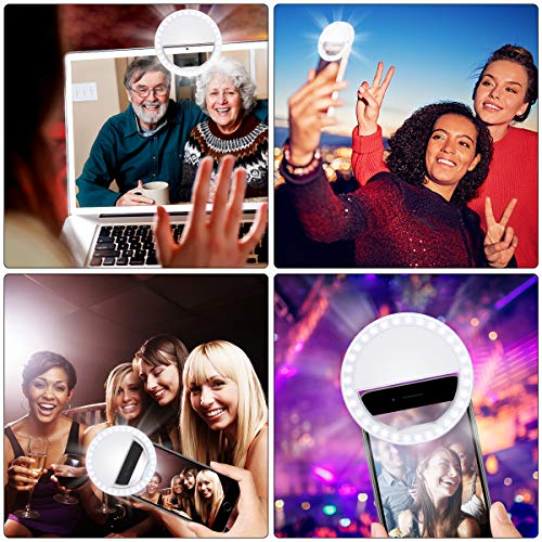 Fodizi Selfie Clip On Ring Light for Smart Phone Camera iPhone iPad Androids Vlogging on Instagram Facebook YouTube - 36 Rechargable LED Phone Light by Fodizi (Image #5)