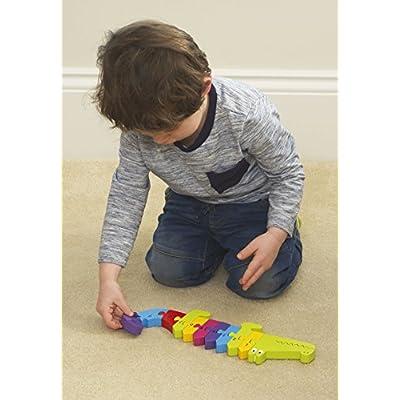 Orange Tree Toys Crocodile Number Puzzle, Multi Coloured: Toys & Games