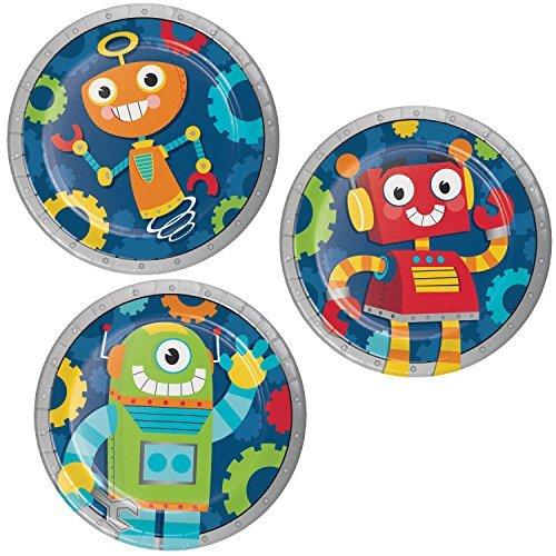 Robot Party Dessert Plates, 24 - Supplies Robot