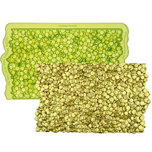 Marvelous Molds Confetti Already Simpress Silicone Mold | Cake Decorating | Fondant Gum Paste