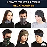 Fleece Neck Warmer [Prints] - Reversible Neck Gaiter Tube, Ear Warmer Headband, Mask & Beanie. Ultimate Thermal Retention, Versatility & Style. Constructed with Performance Comfort Fleece & Microfiber
