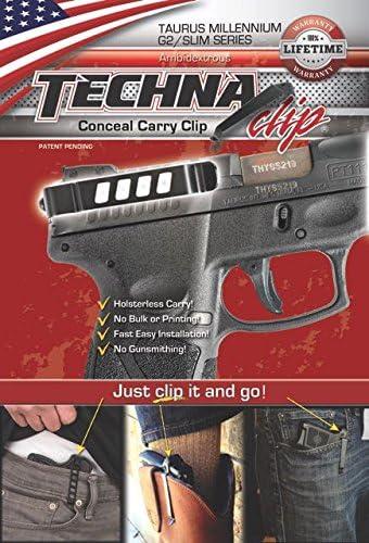 Techna Clip G2BA Gun Belt Clip Taurus PT111 G2//709 Slim Ambidextrous Black