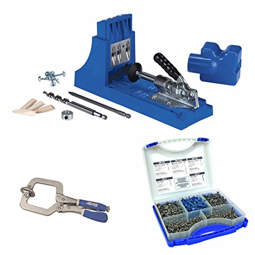 Kreg K4 Pocket Hole System w/ Screw Kit in 5 Sizes and Face Clamp - Kreg Jig