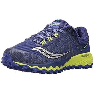 Saucony Women's Peregrine 7 Running Shoe, Blue Citron, 11.5 Medium US