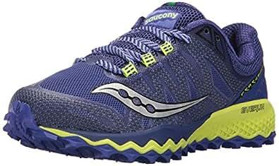 Saucony Women's Peregrine 7 Running Shoe, Blue Citron, 10 Medium US