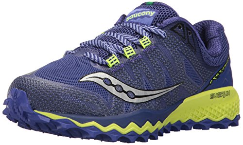 Saucony Women's Peregrine 7 Running Shoe, Blue Citron, 6.5 Medium US