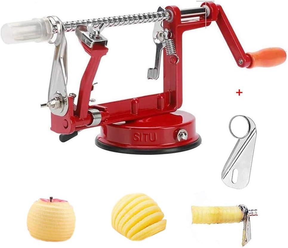 Apple Peeler, Apple Peeler Slicer Corer 3 in 1 Slinky Machine Durable Heavy Duty Die Apple Peelers With Suction base