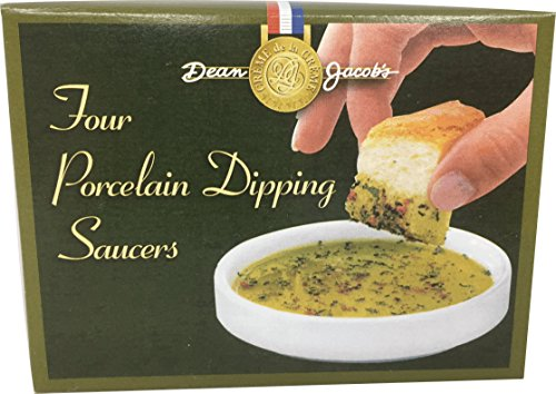 Dean Jacob's Dipping Saucers ~ Boxed Set of 4 - Bread Dipping Dishes
