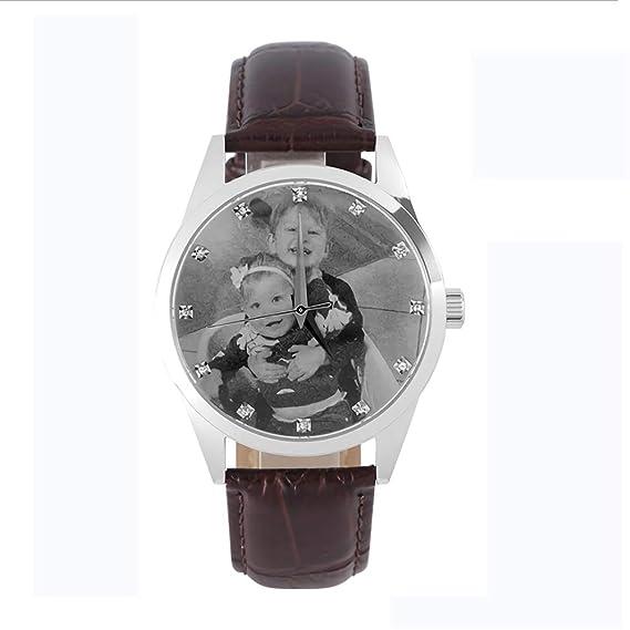 Reloj Fotográfico Personalizado Reloj Artesanal con Foto Personalizada Reloj de Hombre Relojes de Cuarzo Reloj de
