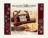 Hickory Farms Double Sausage Sampler 1 lb Gift Set Includes: Summer Sausage Three Cheese & Onion Sweet Hot Mustard Golden Toasted Crackers Strawberry Bon Bons