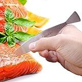 Pridebit Fish Bone Tweezers - High Quality Stainless Steel Fish Bone Remover - Gently Curved Fish Deboner for Boning Salmon