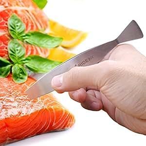 Pridebit Latest Fish Bone Tweezers Premium Quality Stainless Steel Fish Bone Remover Fish Deboner for Boning Salmon