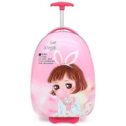 Gucili Maleta para Niños, Anime Cartoon Pink Rabbit Girl Equipaje para Niños, Maletas para