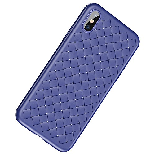 iPhone X Case Ultra Slim With Woven Silicone Excellent Grip Non Slip For Apple iPhone X/iPhone 10 (Blue)