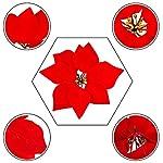 HMILYDYK-20PCS-Xmas-Tree-Ornaments-8-INCH-Red-Poinsettia-Flowers-Festival-Decor-Artificial-Flowers
