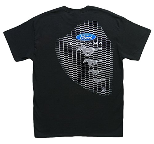 Hot Shirts Mustang/Grille Ford Mustang GT 2005-2017 5.0 Shelby Roush Saleen Black T-Shirt: Large