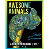 Adult Coloring Books: Awesome Animal Designs and Stress Relieving Mandala Patterns for Adult Relaxation, Meditation, and Happiness