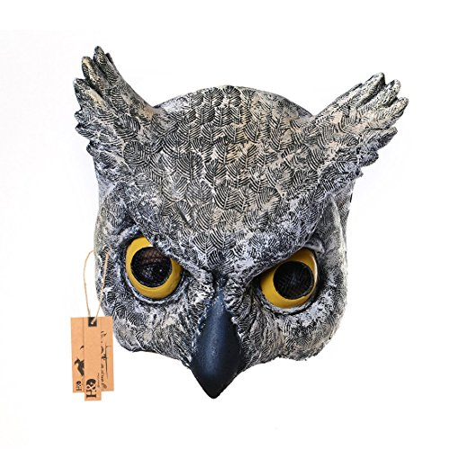 YUFENG Half Face Owl Masks For Adults,Halloween Masquerade Cosplay Mask,Latex (owl masks)