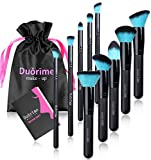 Style Master Makeup Brush Set Cosmetics Foundation Blending Blush Eyeliner Face Powder Brush Kabuki Blue Hair (10pcs Black) (Health and Beauty)