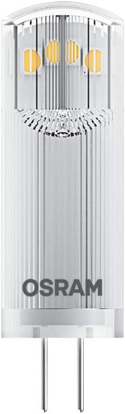 Osram Pin 12 V Lote de 2 x Bombilla LED G4, 1,80W, 20W equivalente a, 2700 K, Blanco cálido, Paquete doble