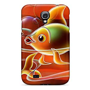 Galaxy S4 Case, Premium Protective Case With Awesome Look - Gold Fish (wds)