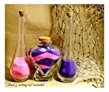 Unity Sand Ceremony Set Personalized Heart with Vinegar Style Side vases- Corks
