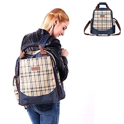 Abonnyc Diaper Bag Baby Diaper Dots Diaper Tote Bag/backpack