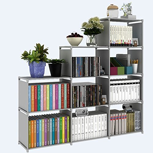 - Vividy 4-Tier Cube Storage Closet Organizer Shelf, 9-Cube Cabinet Bookcase Bookshelf Furniture for Clothes Toys Book