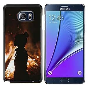 Stuss Case / Funda Carcasa protectora - Fuego de la silueta anaranjada de verano Mediados de Eve - Samsung Galaxy Note 5 5th N9200