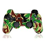XFUNY Premium Wireless Bluetooth Six Axis Dualshock Game Controller for PlayStation 3 PS3 (Army Green Camouflage)