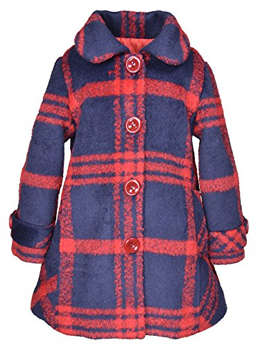 - Widgeon Toddler Girls' Button up Car Coat 3732, Hpl/Holiday Plaid, 3T