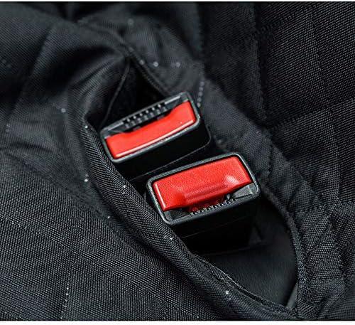 ペットシートカバー カーシートカバープロテクター防水滑り止めペットカーハンモックのために犬の後部座席の保護 (Color : Black, Size : 147x137cm)